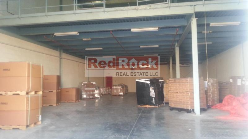 Al Quoz 5461 Sqft Warehouse with Mezzanine for Commercial Use