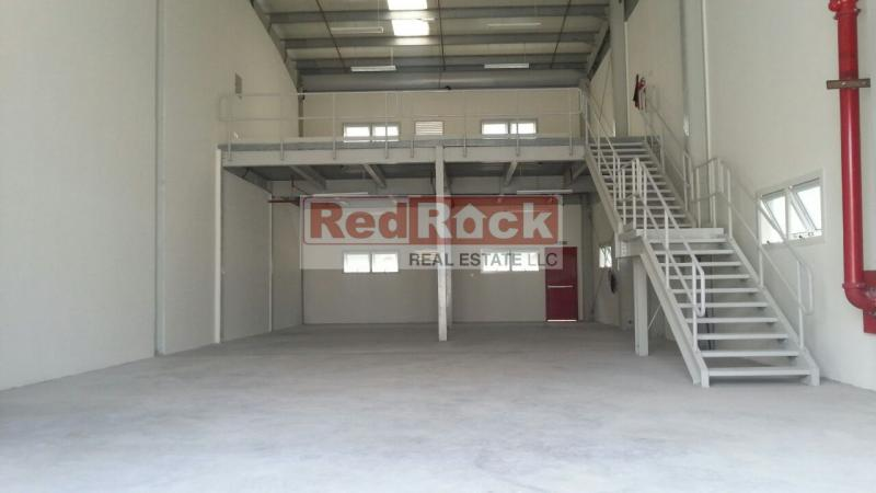 Planned Layout 2869 Sqft Warehouse with Mezzanine in Al Quoz