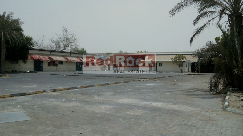 Fully Interlocked Road Facing 45,000 Sqft Plot with Shed & Office in Al Quoz