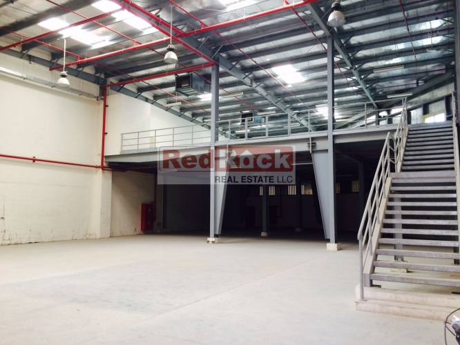 Insulated 6400 Sqft Warehouse with Mezzanine in Al Qusais