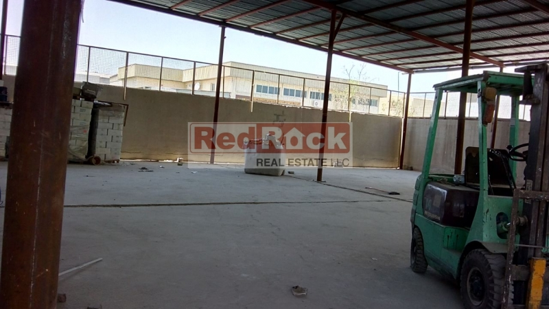 Storage Only 7000 Sqft Open Shed in Prime Location of Al Quoz