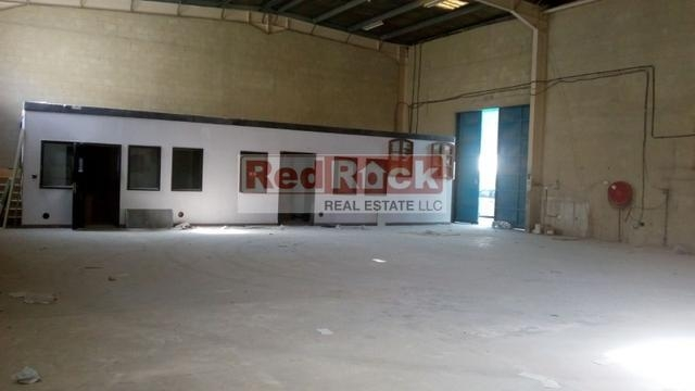 Only 3% Commission 3700 Sqft Warehouse with Office in Al Quoz