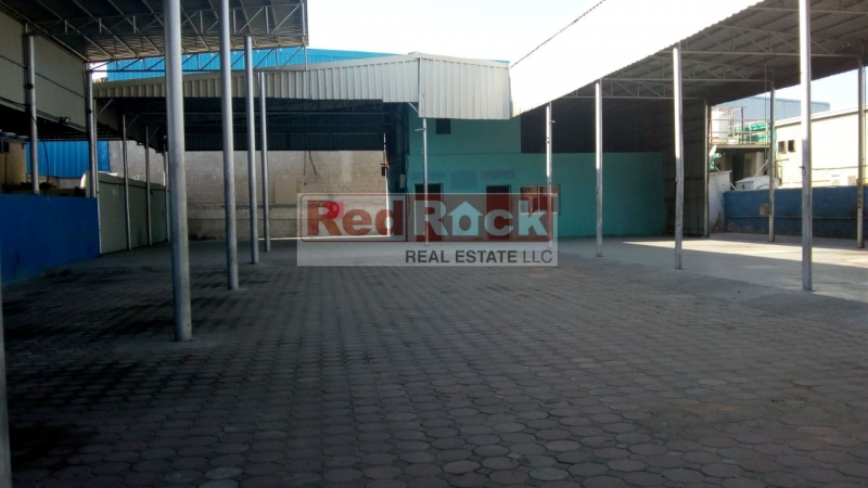 Al Quoz 12,000 Sqft Land with Shed Excellent for Garage