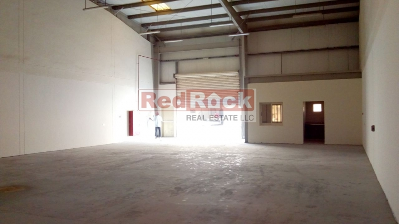 Clean 3000 Sqft Warehouse with Built in Office & Washroom in Jebel Ali