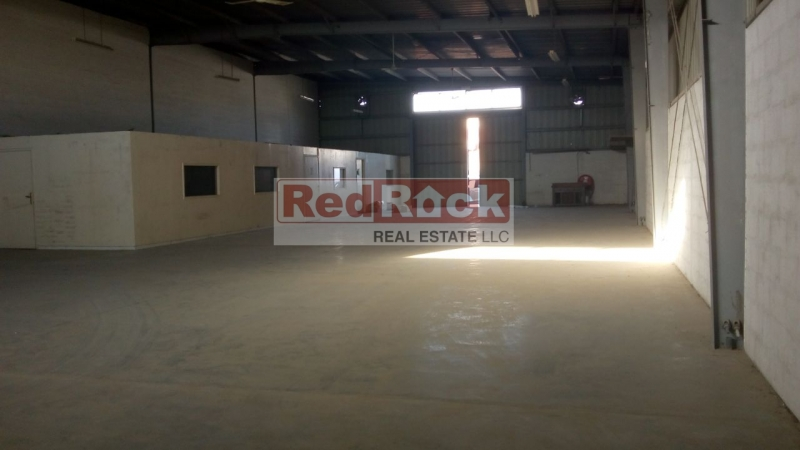 Rare to find 5000 Sqft Front Facing Warehouse with Office in Al Quoz
