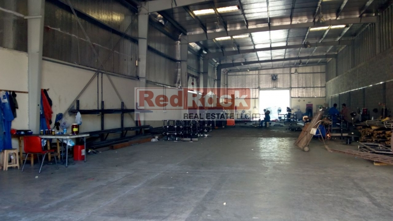 With 40 KW Power 3610 Sqft Industrial Warehouse in Al Quoz