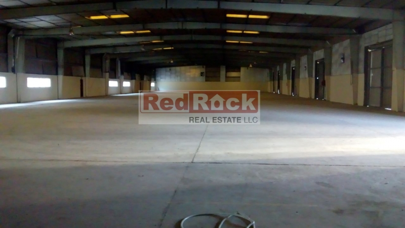 Al Quoz Independent 26,100 Sqft Commercial Warehouse with 200KW Power