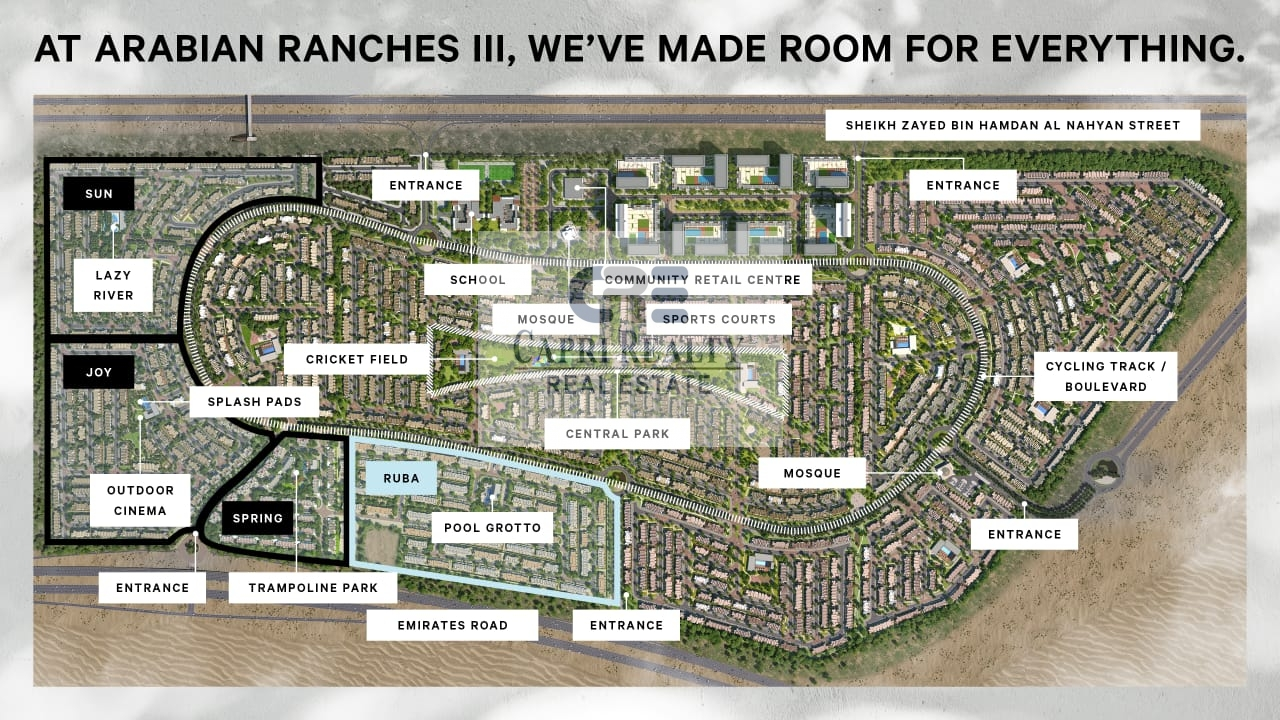 1st Standalone villa in Ranches 3  Downtown 20mins