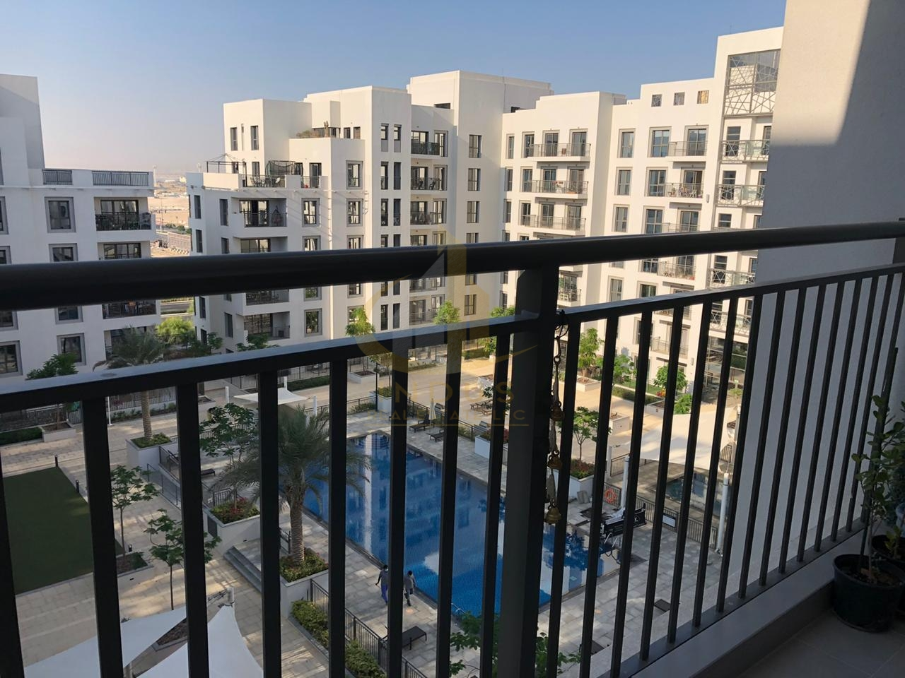 Furnished and Spacious  Pool view  with Balcony View