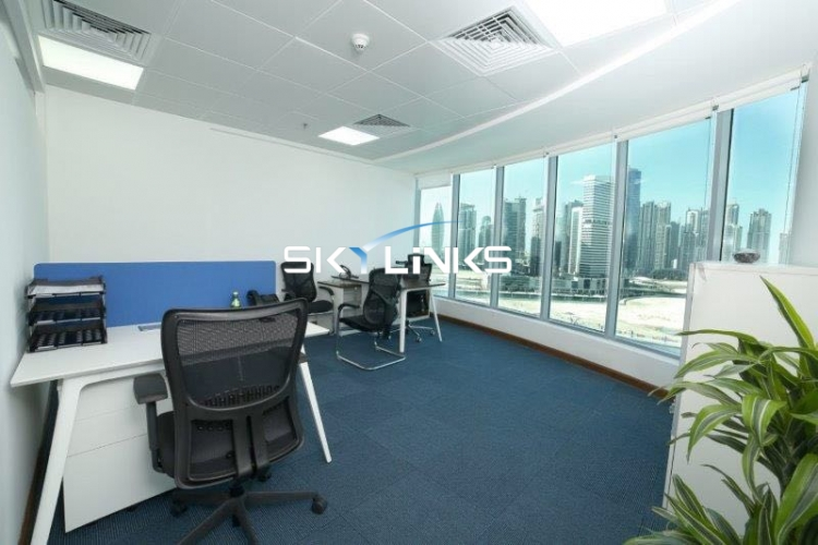 Fully Furnished Office Space For Rent in XL Tower, Business Bay.