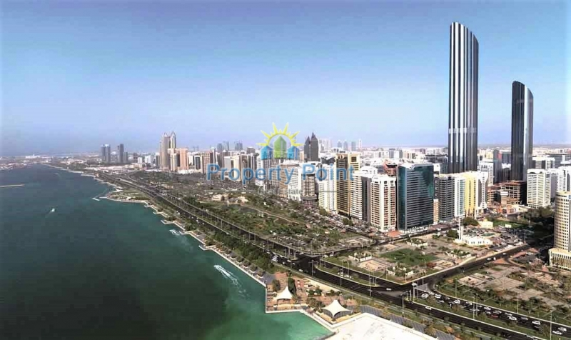 1-4 Payments. Sea/Corniche View. Move In Now. Spacious 2 Bedroom Apartment w/ Parking and Full Facilities in WTC Tower