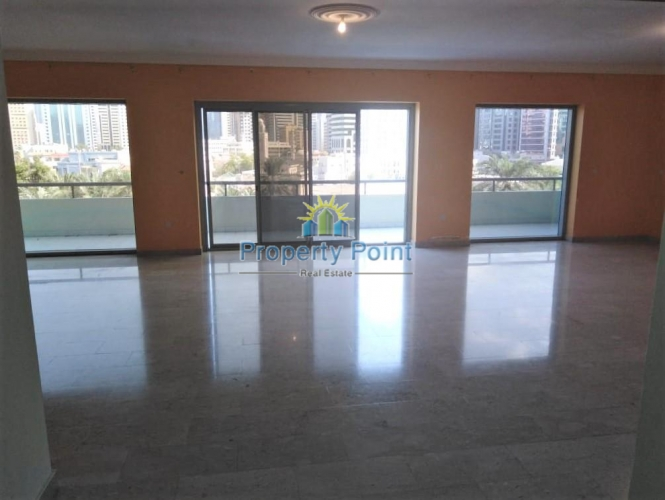 Available Now. Corniche View. Amazing Deal for Large 3-bedroom Duplex Apartment w/ Maids Room, Balcony and Storage Room